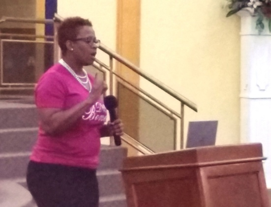 Minister Antoinette Burrows at DWBB 2015