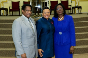 Rev. Dr. Raymond Boca, Pastor of the Arouca Revival Tabernacle, and his wife